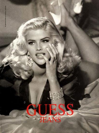 Архивная съёмка: Анна Николь Смит для кампании Guess, 1993. Изображение № 1.