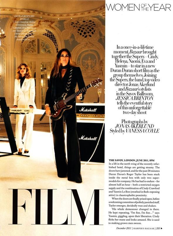 Съёмка: Наоми Кэмпбелл, Хелена Кристенсен, Синди Кроуфорд и другие для Harper's Bazaar. Изображение № 4.