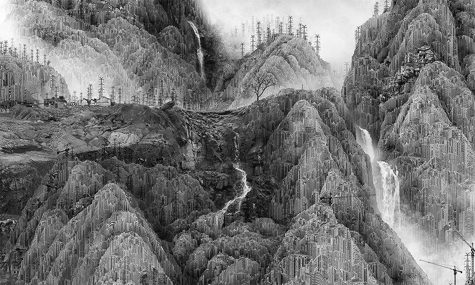 Мрачное будущее на коллаже китайского художника. Изображение № 3.