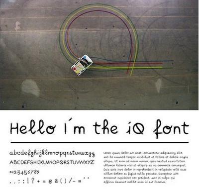 Дизайн шрифта, реализованный автомобилем ToyotaiQ. Изображение № 1.