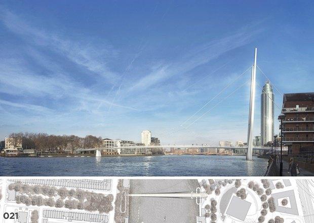 Выложены 74 проекта нового моста через Темзу. Изображение № 67.