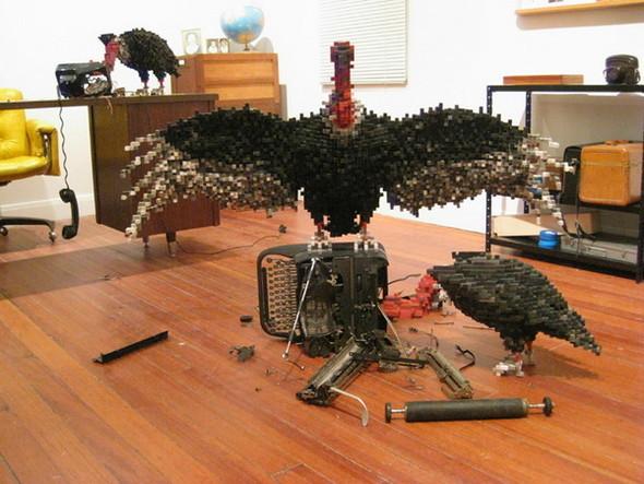"""""""Пиксельные"""" скульптуры Shawn Smith. Изображение № 1."""