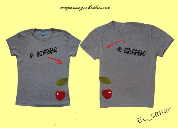 Elsaharova: половинчатые футболки на 14 февраля. Изображение № 11.