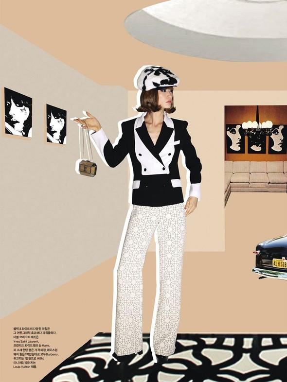 """Съемка: сет """"60s Bang Bang"""" в корейском Harper's Bazaar. Изображение № 8."""