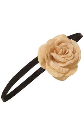 Taupe Organza Corsage Headband - Topshop $16. Изображение № 110.