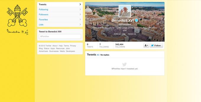 Папа Римский завел твиттер. Изображение № 1.