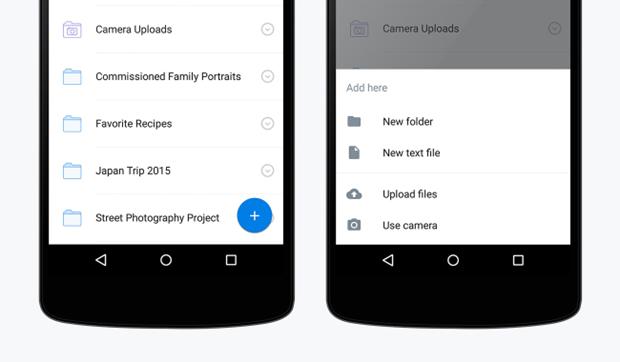 Dropbox показал приложение вматериальном дизайне . Изображение № 3.