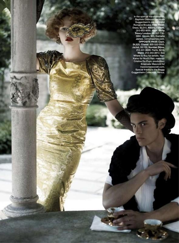 Lara Stone: Harper's Bazaar, September 2009. Изображение № 11.