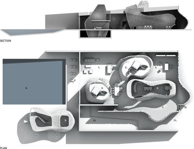 Представлена концепция распечатанного на 3D-принтере интерьера . Изображение № 7.