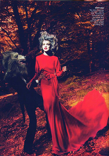 Into the Woods. Natalia Vodyanova. Vogue Sept-09. Изображение № 4.