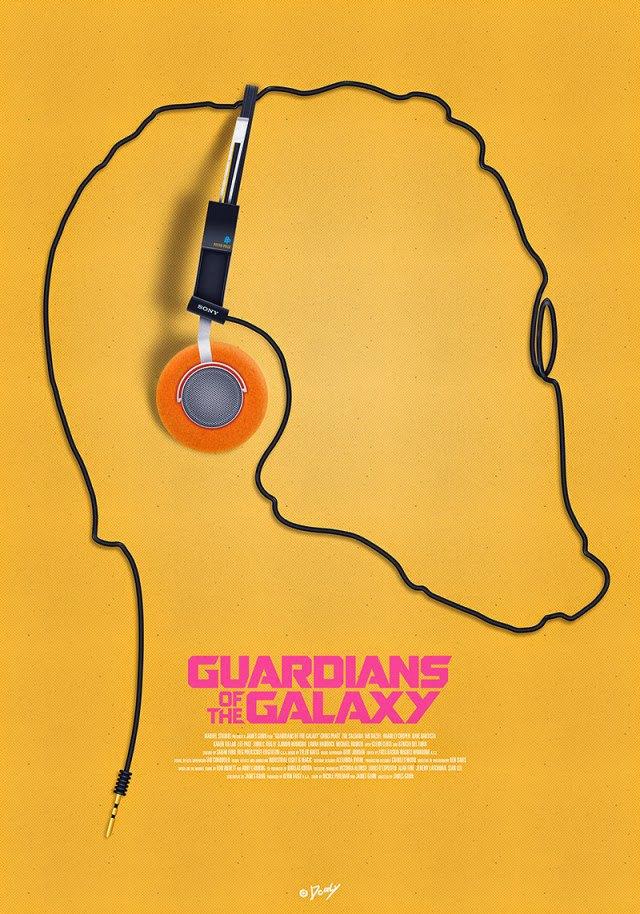 Опубликованы 44 фанатских постера к «Стражам Галактики». Изображение № 4.
