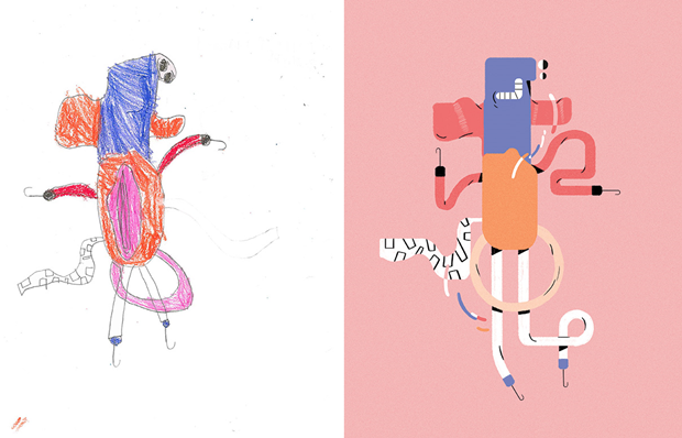 Художники создали монстров наоснове детских рисунков. Изображение № 34.