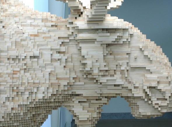 """""""Пиксельные"""" скульптуры Shawn Smith. Изображение № 4."""