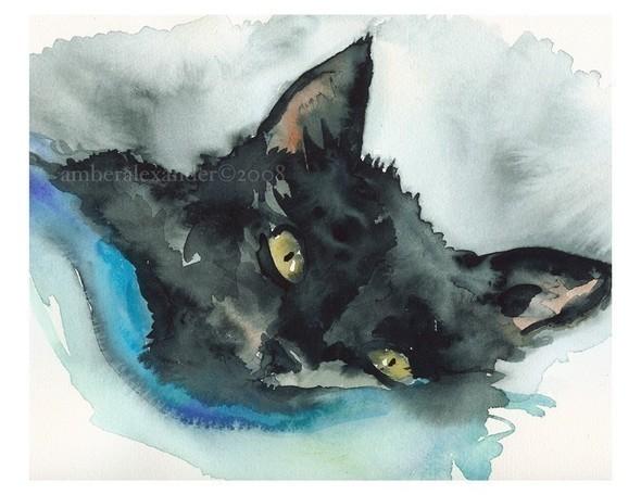 Изображение 23. Amber Alexander - животные, сияющие акварелью.. Изображение № 23.