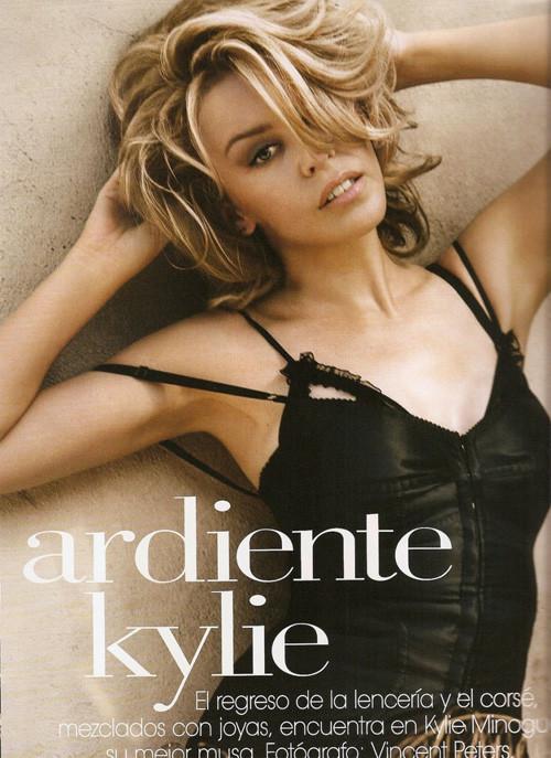 Кайли Миноуг снялась в фотосессии для испанского Vogue. Изображение № 2.