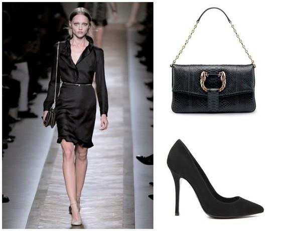 Платье Valentino, сумка Bulgari, туфли Balmain. Изображение № 2.