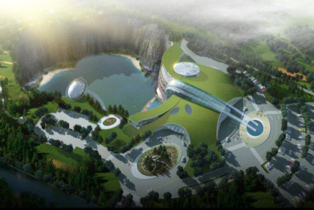 В Китае строят грандиозный отель в скалистой пещере. Изображение № 1.