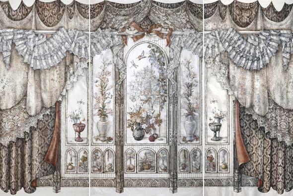 Ручная набойка по ткани: Е.А.Шнайдер и Н.Чурбакова. Изображение № 18.