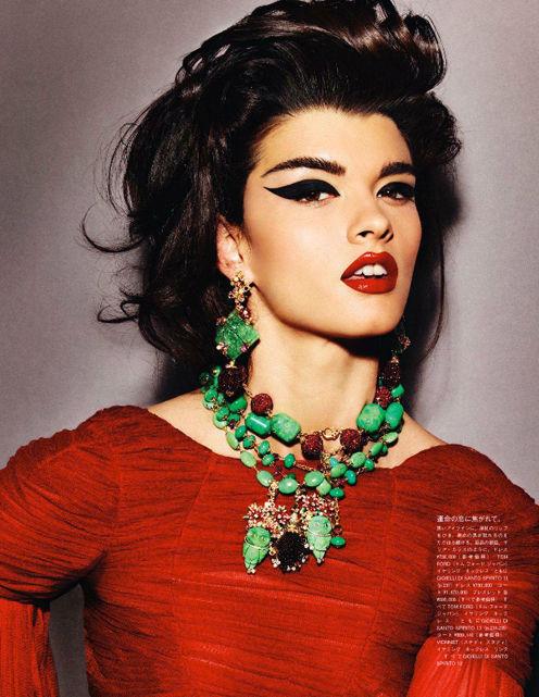 Съёмка: Кристал Ренн для Vogue. Изображение № 3.