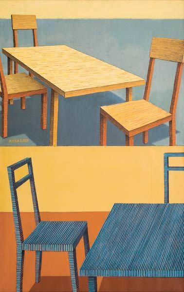 Куаныш Базаргалиев. Столы истулья. Изображение № 6.