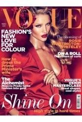 Рози Хантингтон-Уайтли на обложке мартовского номера британского Vogue. Изображение № 3.