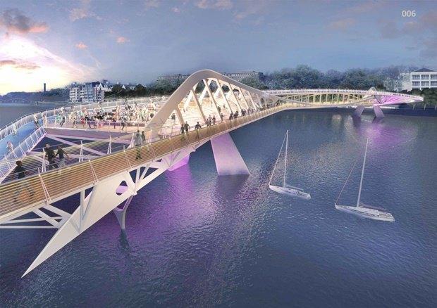 Выложены 74 проекта нового моста через Темзу. Изображение № 48.
