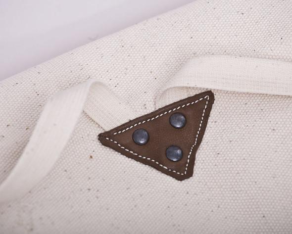 БЕЛОЕ — рюкзаки и сумки из грубого белого хлопка. Изображение № 10.
