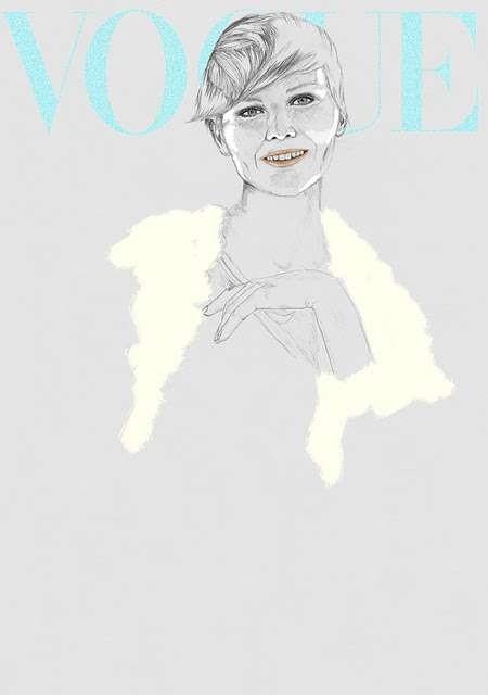 Vogue Covers: знаменитая Hazel Castle нарисовала журнал карандашом. Изображение № 6.