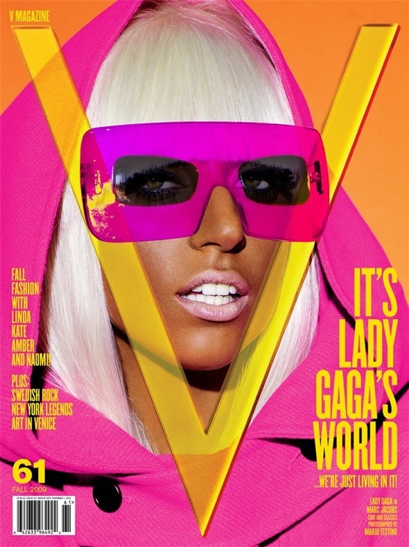 Lady Gaga by Mario Testino for V 61 September 2009. Изображение № 1.
