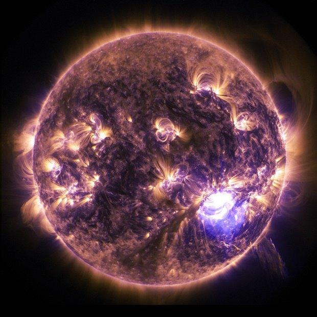 Снимок Солнца из Обсерватории солнечной динамики NASA. Изображение № 2.