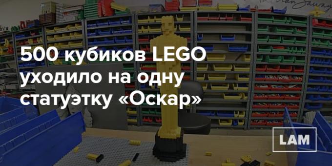 Число дня: сколько кубиков нужно для «Оскара» из LEGO. Изображение № 1.