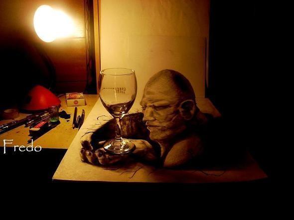 """Изображение 3. Реалистичные 3D рисунки """"в карандаше"""".. Изображение № 3."""