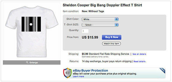 Where to Buy: Эффект Доплера из Big Bang Theory. Изображение № 4.