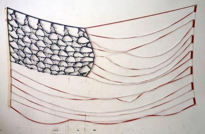 """Брайан Кенни """"Deconstructed Flag #3 (Bare Bones)"""" (2012). Изображение № 22."""