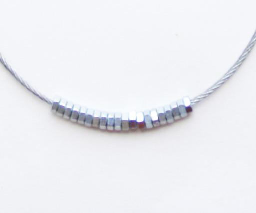 Ожерелья из цепей гаек и сантехнического шнура. Часть1. Изображение № 4.