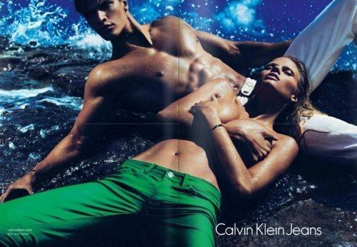 Превью кампаний: Лара Стоун для Calvin Klein и Миа Васиковска для Miu Miu. Изображение № 1.