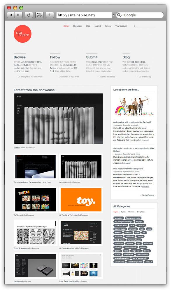 Siteinspire: красивые сайты каждый день. Изображение № 1.