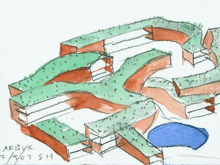 Архитектурные акварели стивена холла. Изображение № 23.