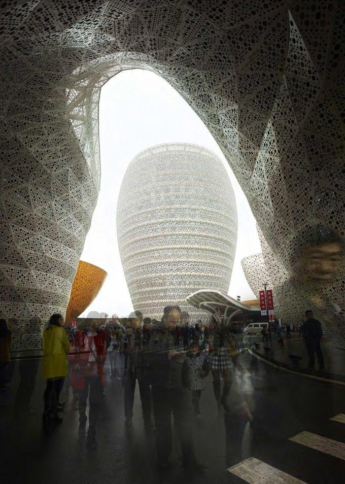 Архитектура дня: музей керамики со зданиями в форме чаш в Китае. Изображение № 9.