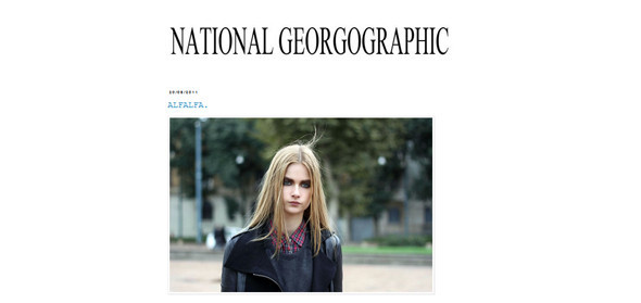 City Looks: National Georgographic — блог о моделях. Изображение № 1.