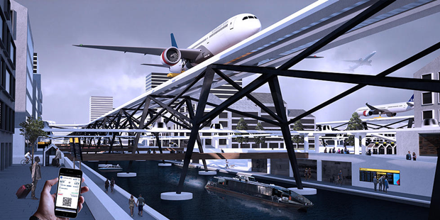 Студент предложил концепт надземного аэропорта в городе. Изображение № 4.