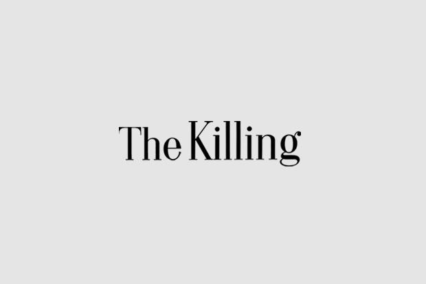 Логотип из титров или трейлера фильма «Убийство». Использован рукописный шрифт. Изображение № 33.