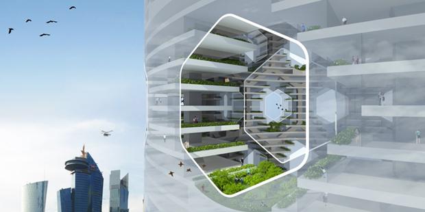 Архитекторы предложили концепт вертикального города на воде. Изображение № 5.
