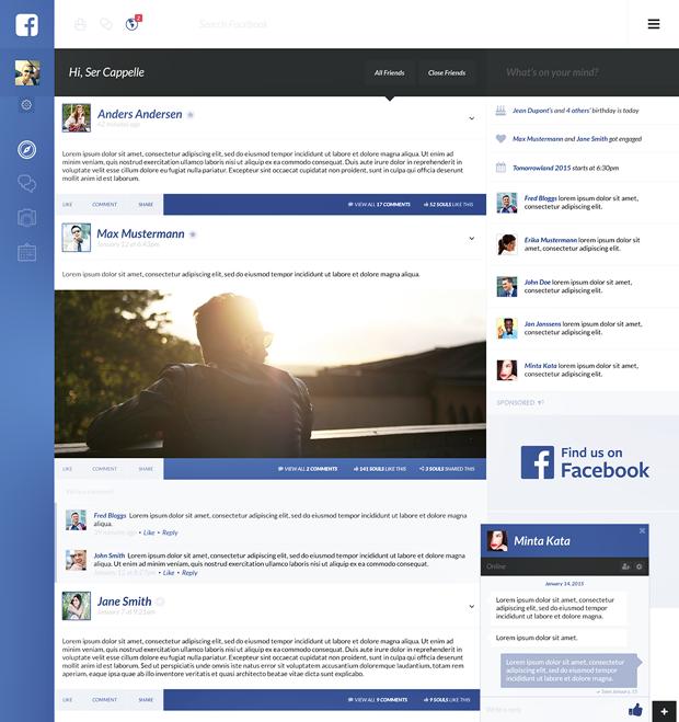 Редизайн дня: полностью новая веб-версия Facebook. Изображение № 15.