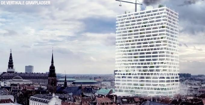 Архитектор предложил строить в городах кладбища-небоскрёбы. Изображение № 1.
