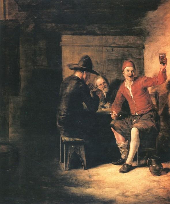Питер де Хох, Веселые бражники. Изображение № 12.