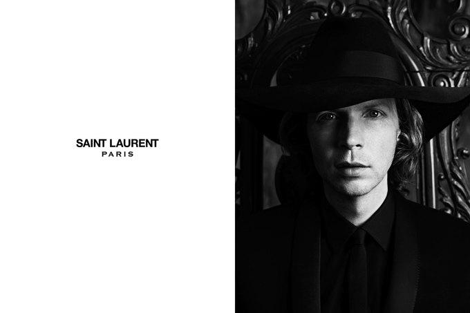 Бек и Эди Кэмпбелл снялись в кампании Saint Laurent. Изображение № 1.