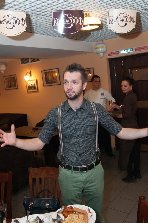 """Андрей Тихонов отпраздновал день рождения в ресторане """"Колбасофф"""". Изображение № 2."""