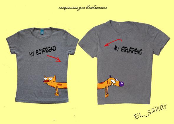 Elsaharova: половинчатые футболки на 14 февраля. Изображение № 4.