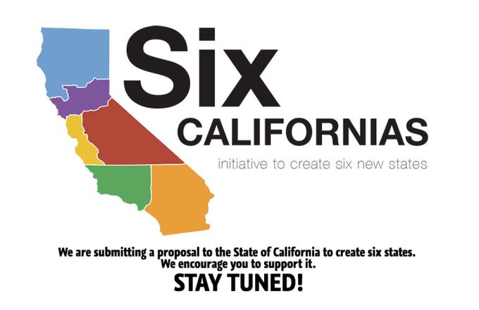 Калифорния может быть разделена на шесть штатов. Изображение № 1.